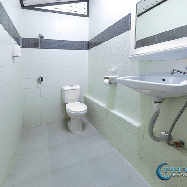 beachfront traditional bungalow toilet facilities